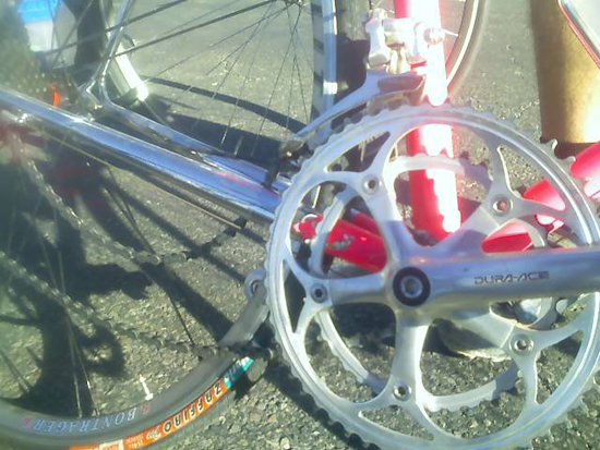 My chain at the El Tour de Tucson finish line