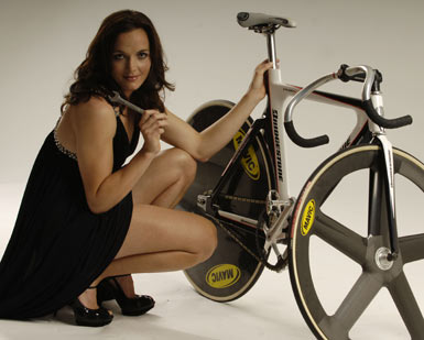 Victoria Pendleton with aforementioned spanner wrench