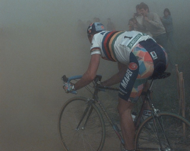 The dust, the cobbles, and the pain.