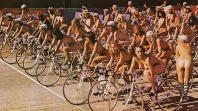 naked women on bikes
