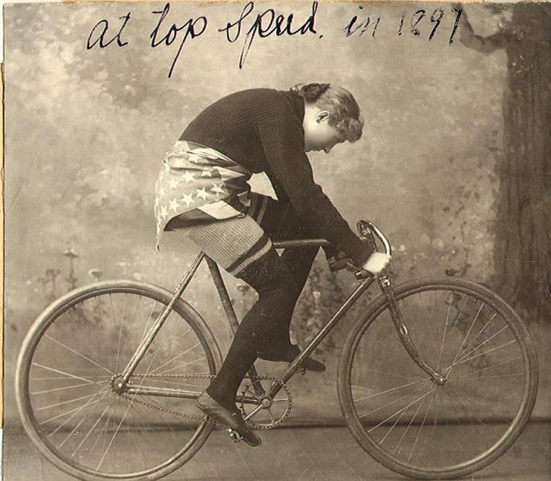 1800 female cyclist