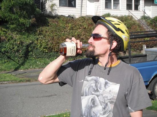 Senna is a drunk cyclist