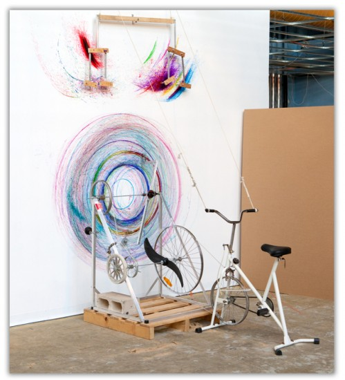bicycle-drawing-machine