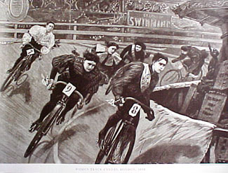 vintage female bike racing 1898