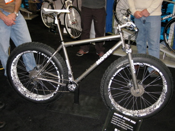 I'll leave you with the Moots snow bike. Awesomely large.