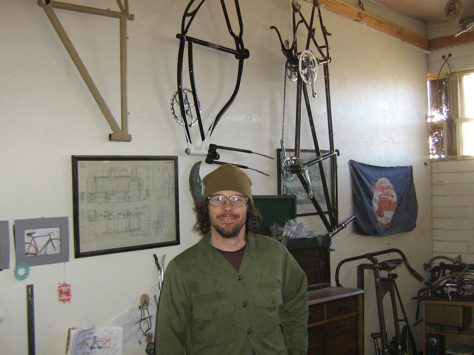 Ed in his shop