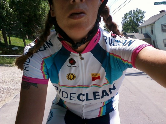 My RideClean jersey is rad.