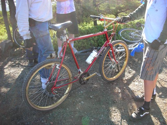 A very early 'MountainBikes/Ritchey' that was restored as a replica of Charlie Kelly's old bike. Charlie was visibly impressed by the attention to detail.