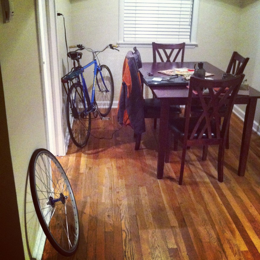 Dining rooms. Not just for bike parking anymore.