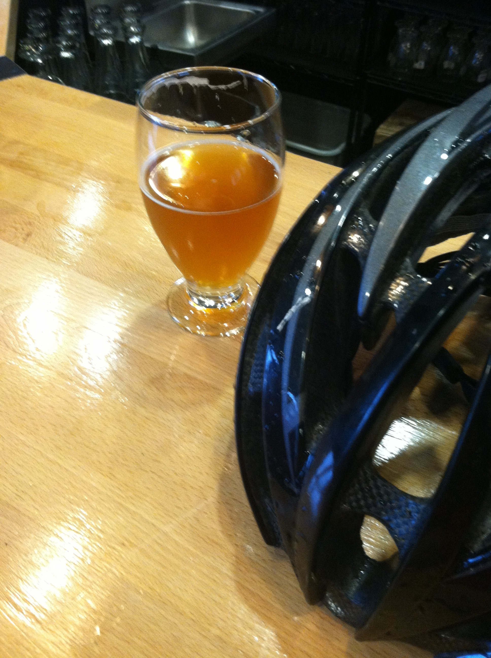 I learned two things: 1) River North's Saison is delicious. 2) Sorority girls are not impressed by soaking wet men in bike helmets.