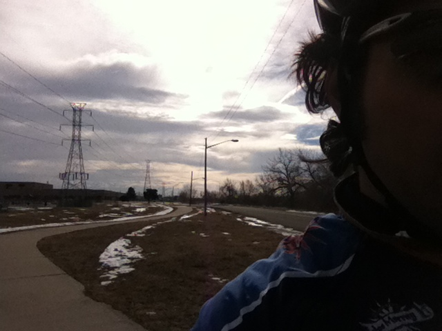 This is what a cold bicycle ride in Denver looks like!