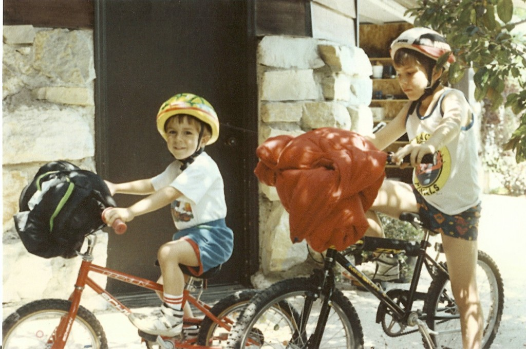 Started young at this bike packing thing.