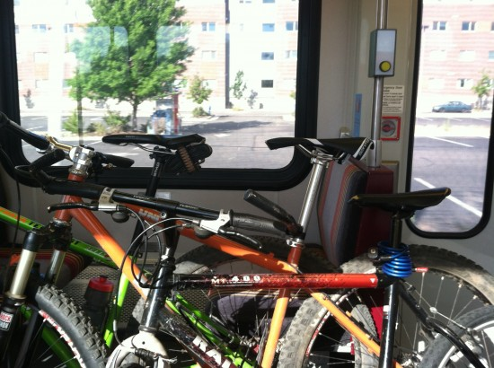 We weren't the only ones bringing their bikes on the W Line