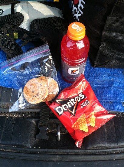Snacks for the end of a ride are nice as well