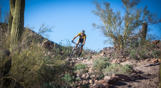 Todd keeping it real on the local Tucson trails.