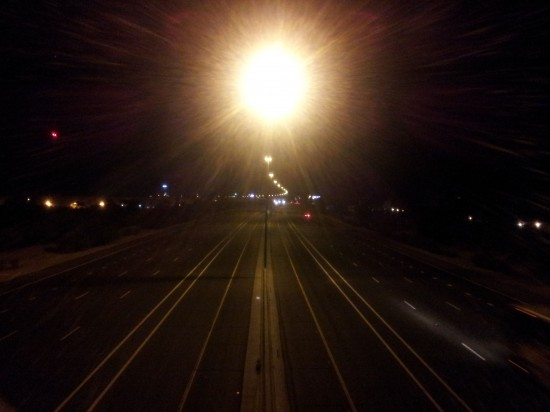 A lonely I-10 at 2:30am