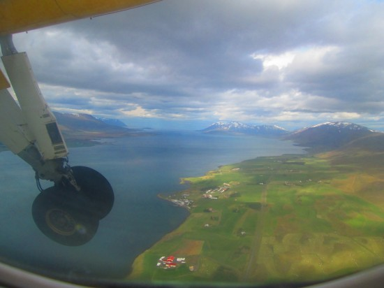 On approach to Akureyri.