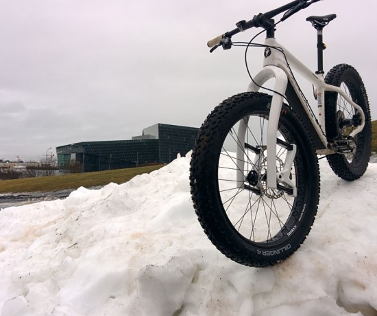 Test Ride with Lauf Carbonara in front of Harpa Music Hall, Reykjavík Iceland.