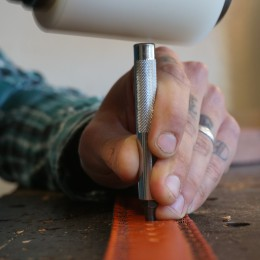 Adding belt holes.