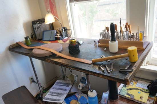 Jeremiah's work bench.